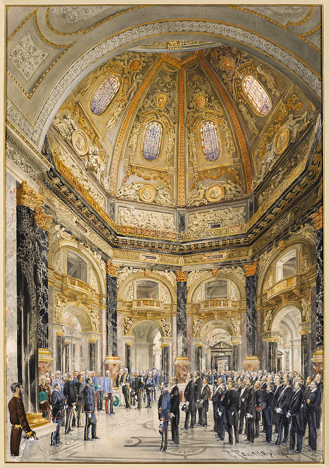 Die Eröffnung des Kunsthistorischen Museums durch Kaiser Franz Joseph I. am 17.10.1891 von Robert Raschka