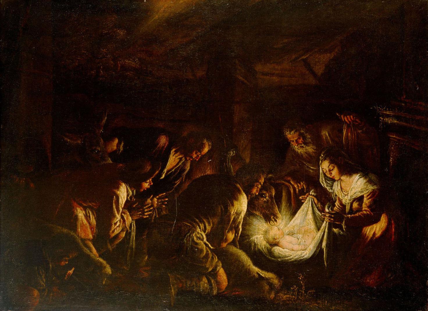 Die Anbetung der Hirten von Francesco da Ponte, gen. Francesco Bassano