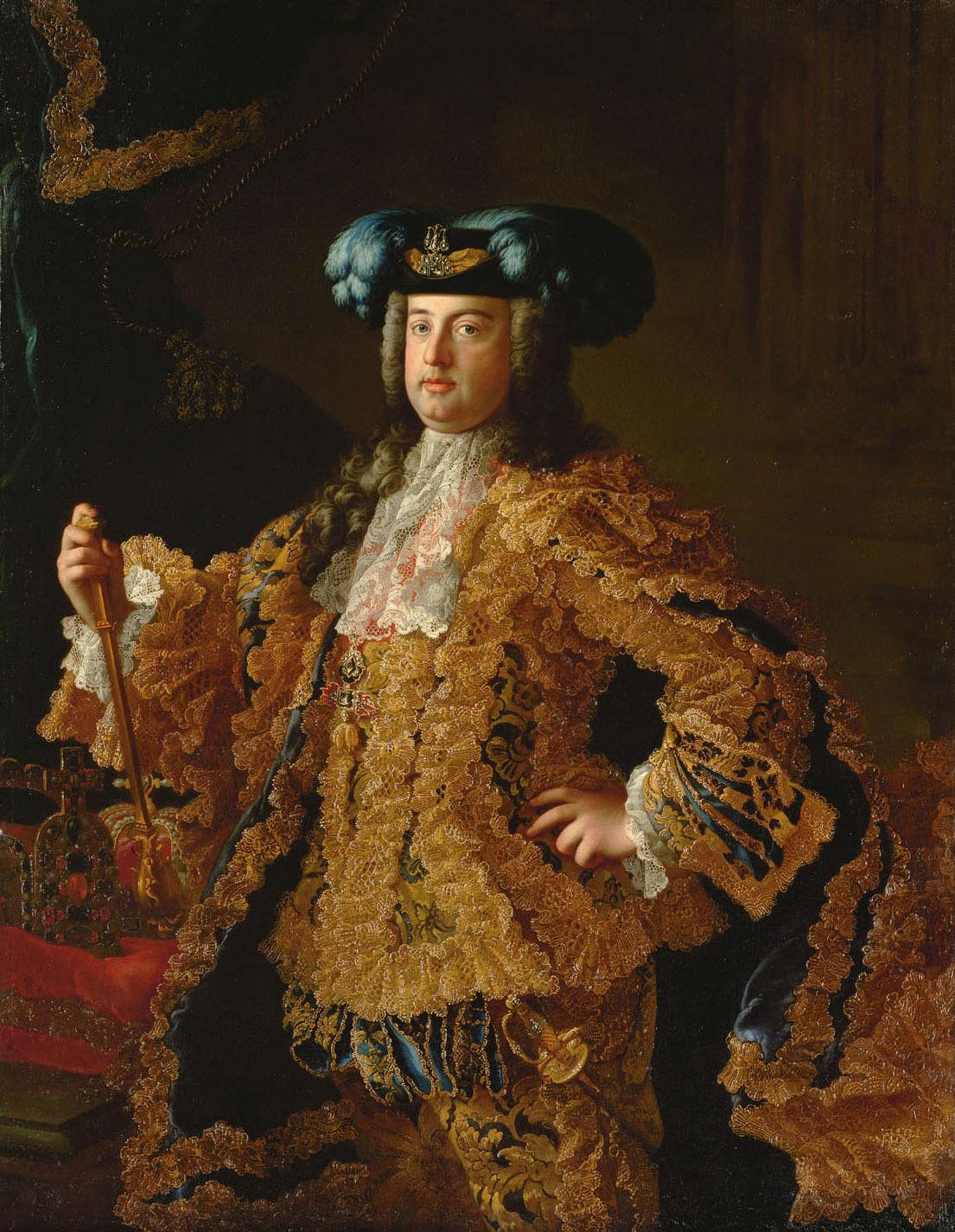 Herzog Franz (I.) Stephan von Lothringen (1708-1765), in reichem Hofkleid, Kniestück von Martin van Meytens d. J.