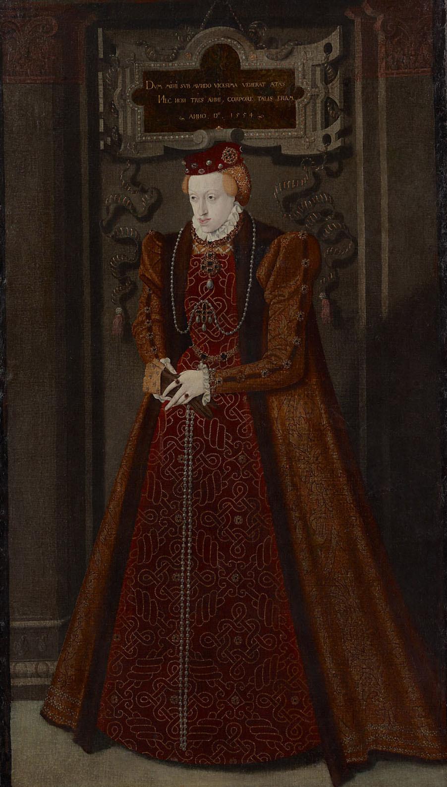 Erzherzogin Maria (1531-1581), Herzogin von Jülich - Cleve - Berg, Bildnis in ganzer Figur von Niederländisch