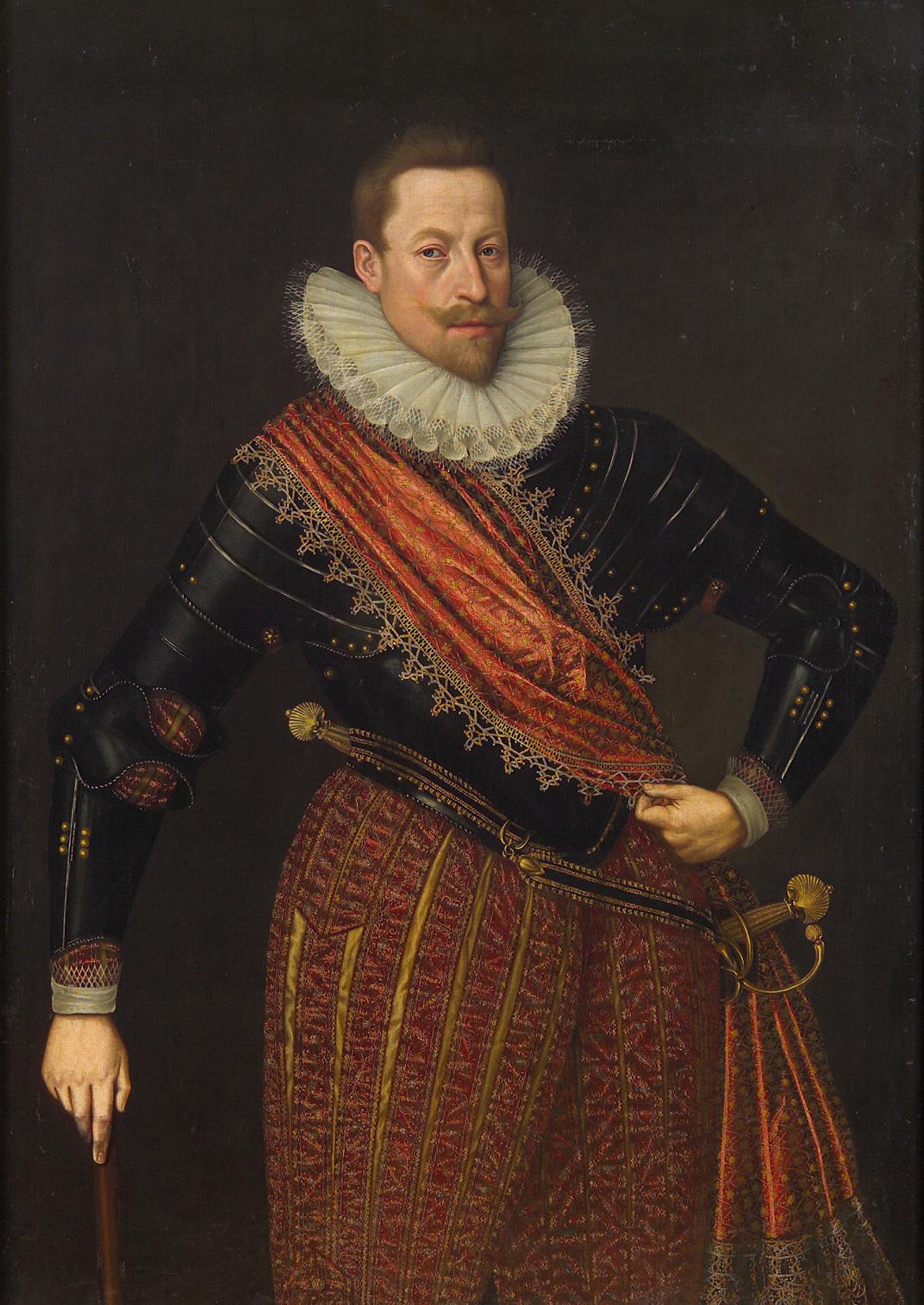 Kaiser Matthias (1557-1619) als Erzherzog, mit Stab, Kniestück von Lucas I. van Valckenborch