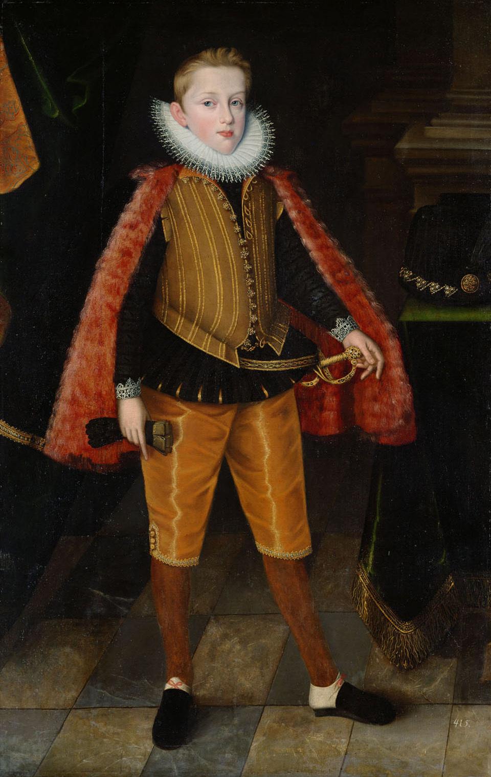 Kaiser Ferdinand II. (1578-1637) im Alter von 14 Jahren in ganzer Figur von Jakob de Monte