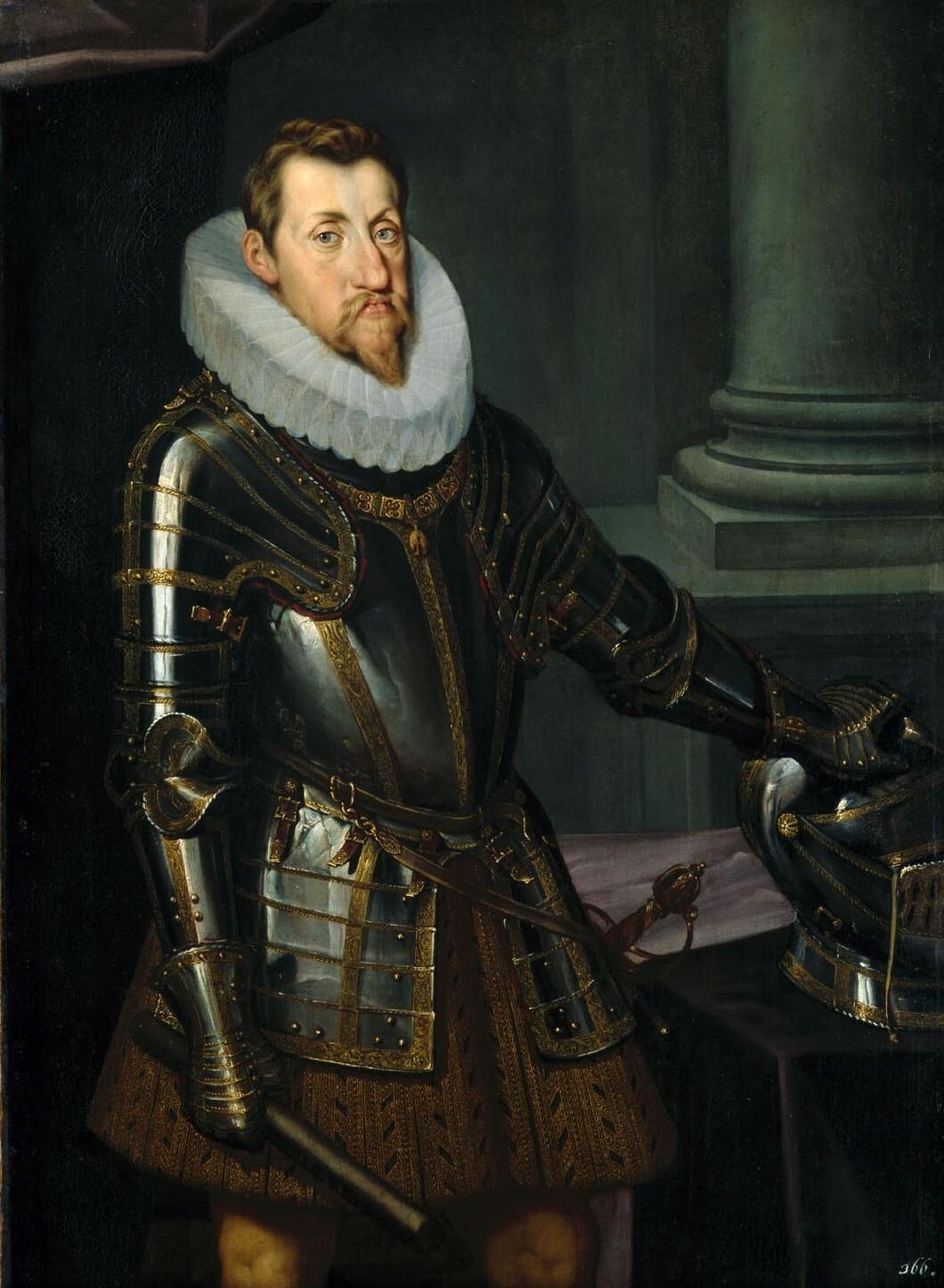 Erzherzog Ferdinand II. von Innerösterreich (1578-1637) im Harnisch, Kniestück, seit 1619 Kaiser Ferdinand II. von Österreichisch