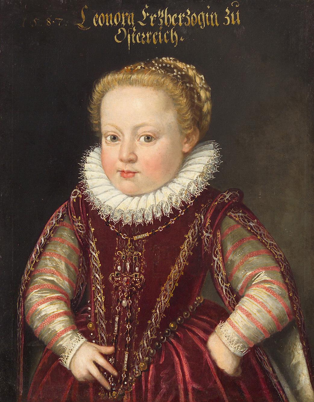Erzherzogin Eleonore (1582-1620) im Alter von 5 Jahren, Halbfigur von Ottavio Zanuoli