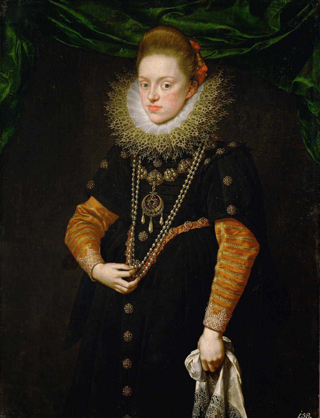 Erzherzogin Konstanze (1588-1631), Königin von Polen in schwarzem Kleid von Frans Pourbus d. J.
