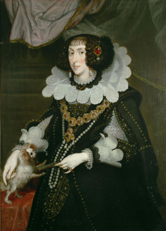 Erzherzogin Maria Anna (1610-1665), Kurfürstin von Bayern, Kniestück von Joachim von Sandrart