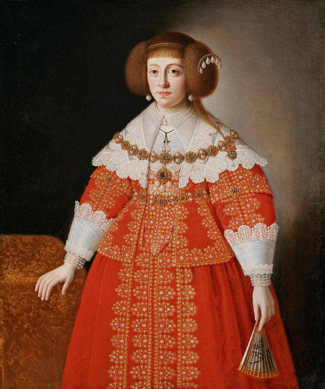 Bildnis der Erzherzogin Cäcilia Renata (1611-1644) (?), Königin von Polen, Kniestück von Norddeutsch