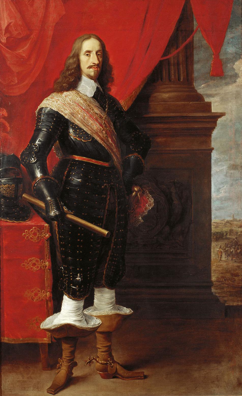 Erzherzog Leopold Wilhelm (1614-1662), im Hintergrund die Belagerung von Gravelingen von David Teniers d. J.