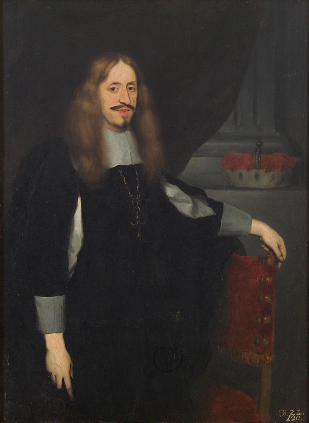 Erzherzog Leopold Wilhelm (1614-1662) in schwarzem Gewand, Kniestück von Johann Ulrich Mayr