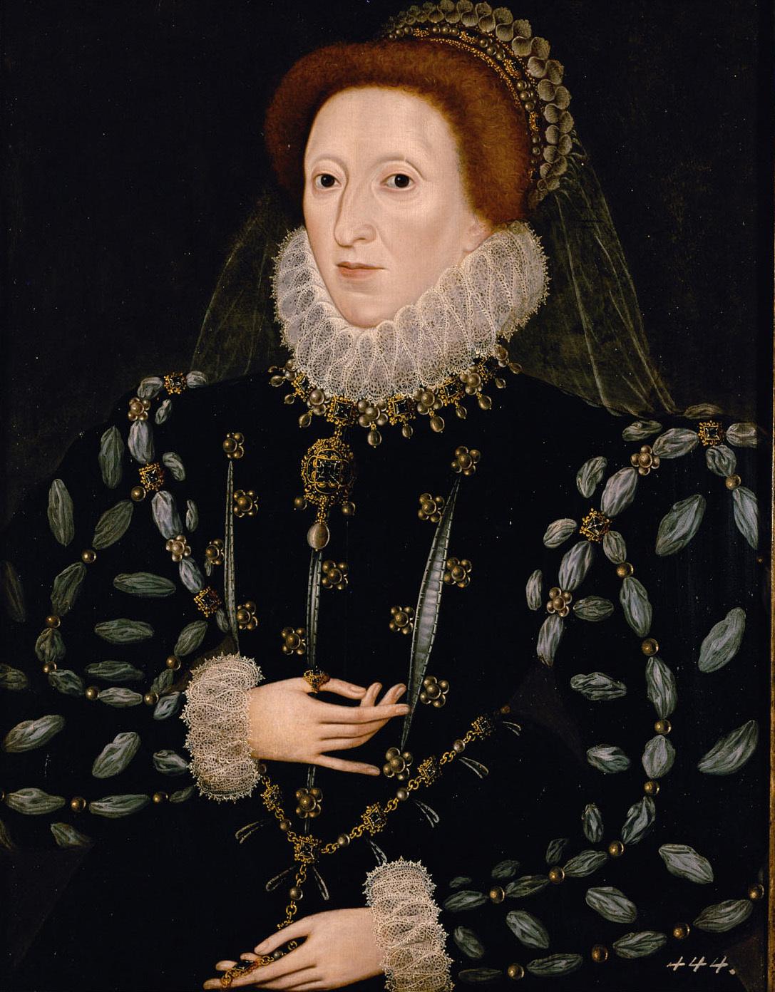 Königin Elisabeth I. von England (1558-1603), Brustbild von Nicholas Hilliard