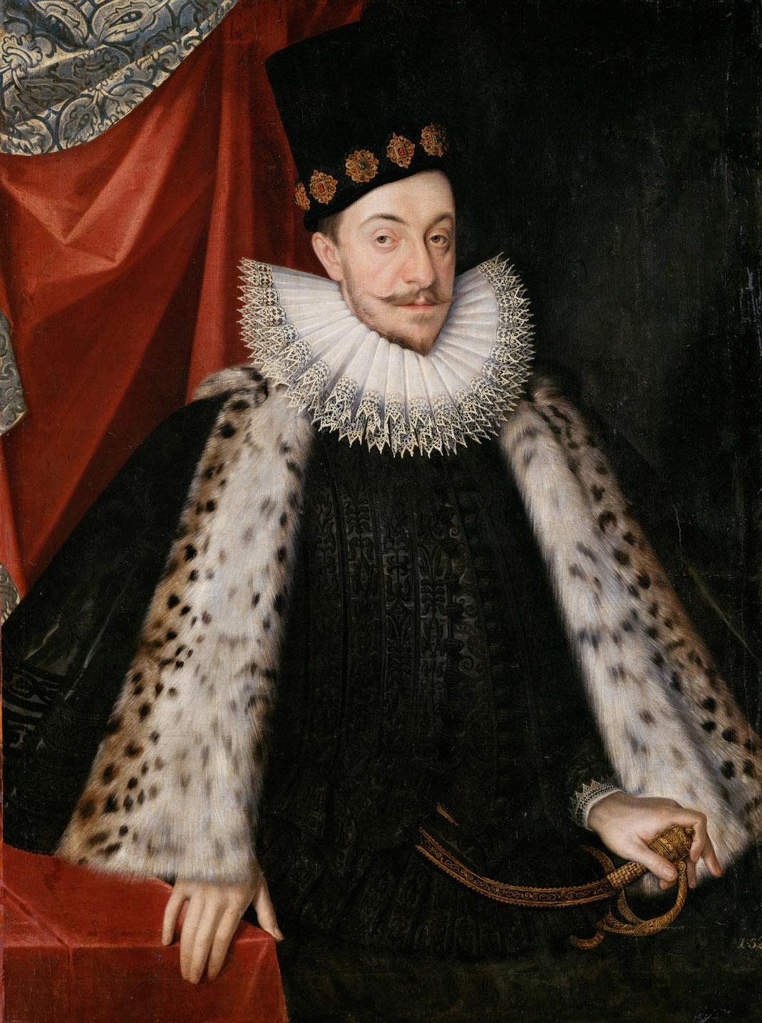 König Sigismund III. (1566-1632) von Polen, Kniestück von Martin Kober