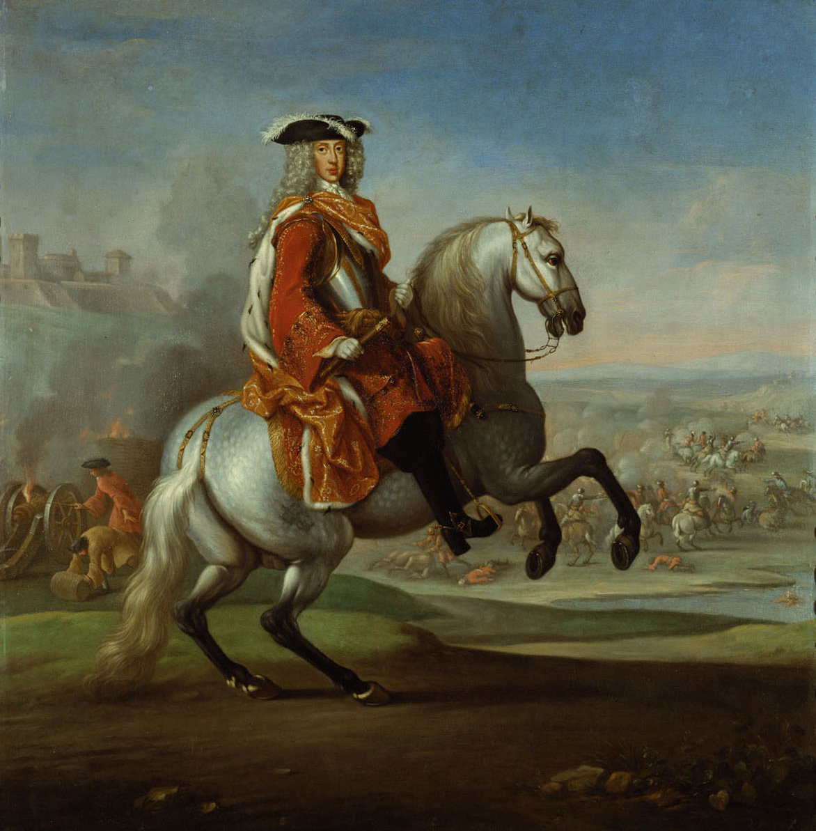 Herzog Karl V. von Lothringen (1643-1690) als Feldherr zu Pferd von Niederländisch