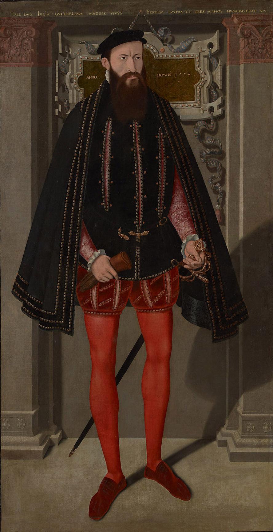 Herzog Wilhelm V. (1516-1592) von Jülich-Cleve-Berg, in ganzer Figur von Norddeutsch