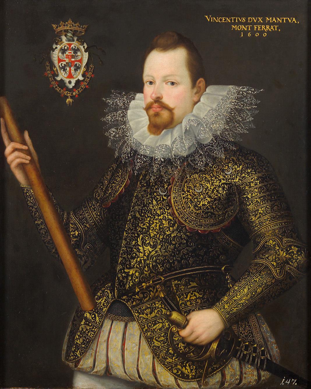 Vicenzo I. Gonzaga, Herzog von Mantua, Halbfigur von Frans Pourbus d. J.