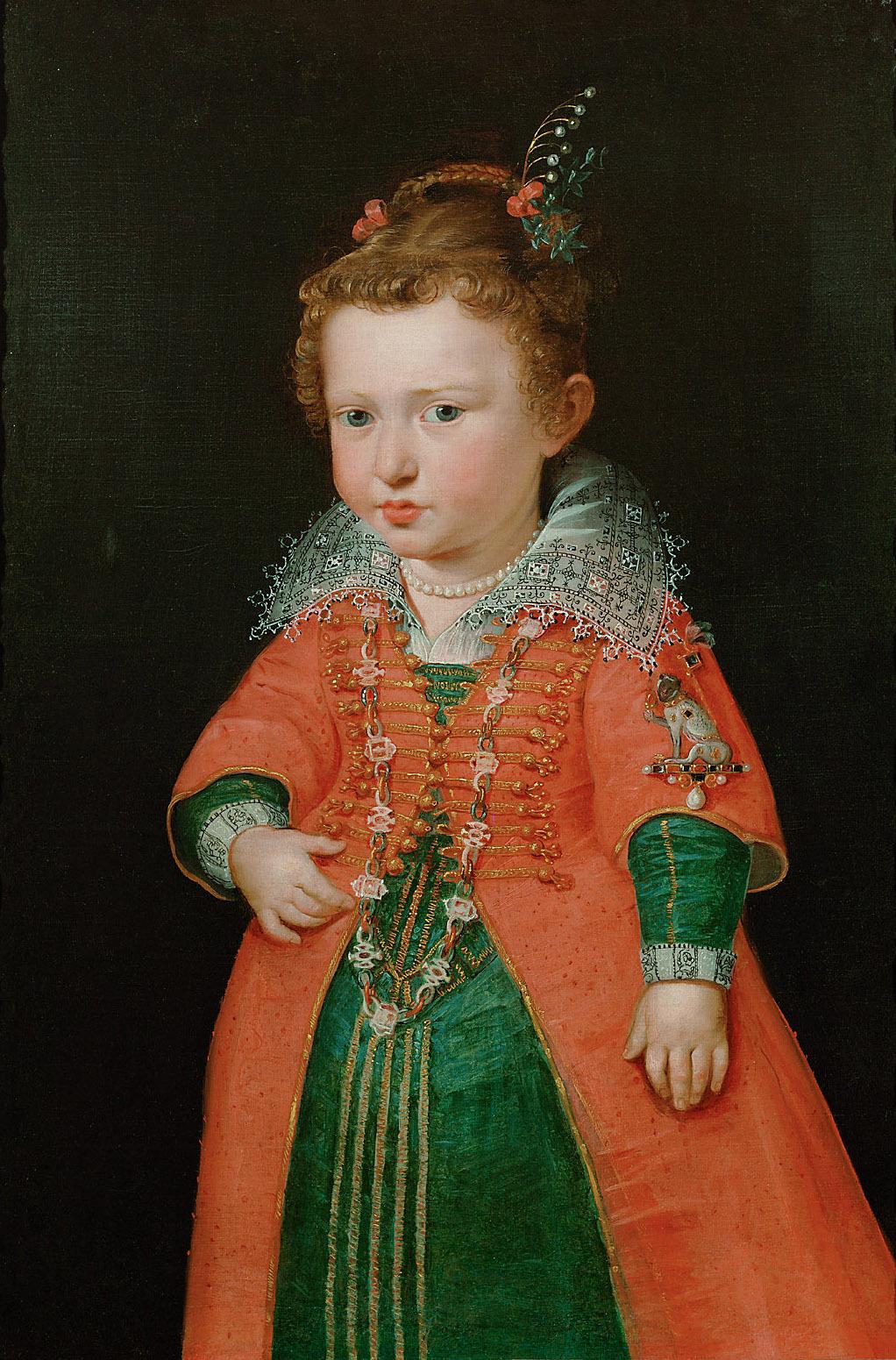 Eleonore von Gonzaga (1598-1655), Kaiserin, im Alter von zwei Jahren, Kniestück von Peter Paul Rubens