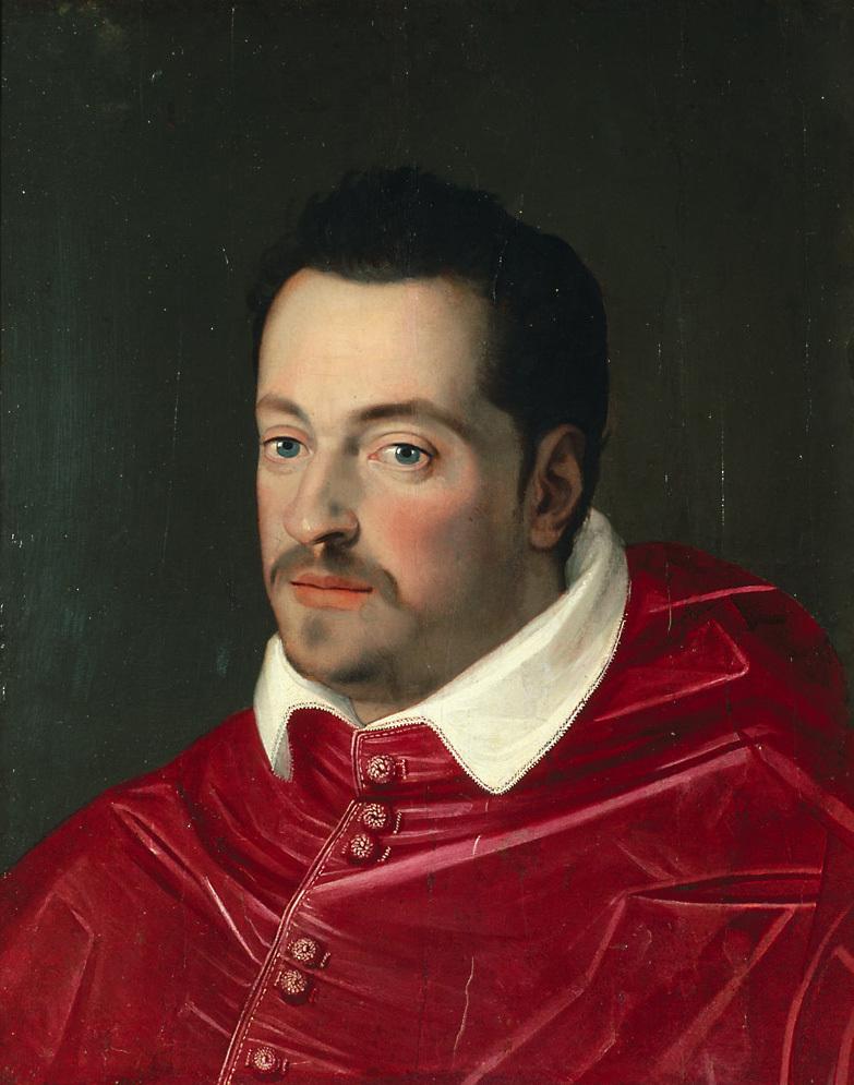 Großherzog Ferdinando I. (1549-1609) von Toskana als Kardinal, Brustbild von Scipione Pulzone gen. il Gaetano