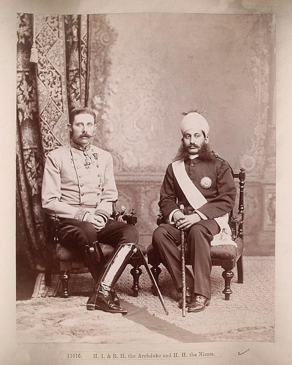 Franz Ferdinand und der Nizam von Hyderabad von Lala Deen Dayal