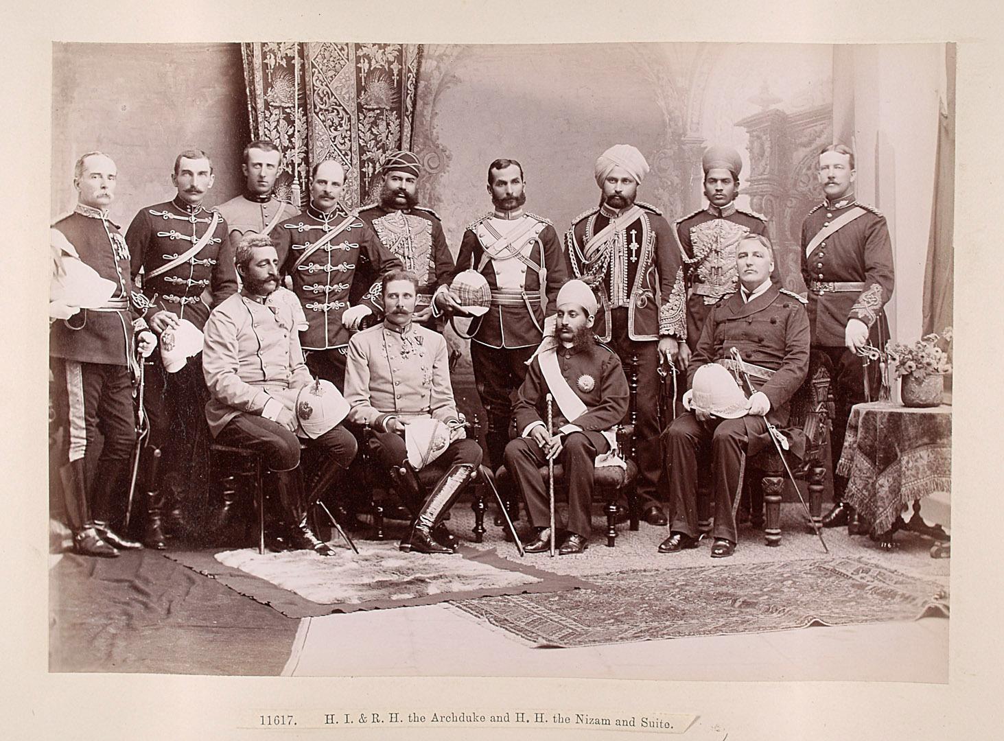 Franz Ferdinand und der Nizam von Hyderabad mit Gefolge von Lala Deen Dayal