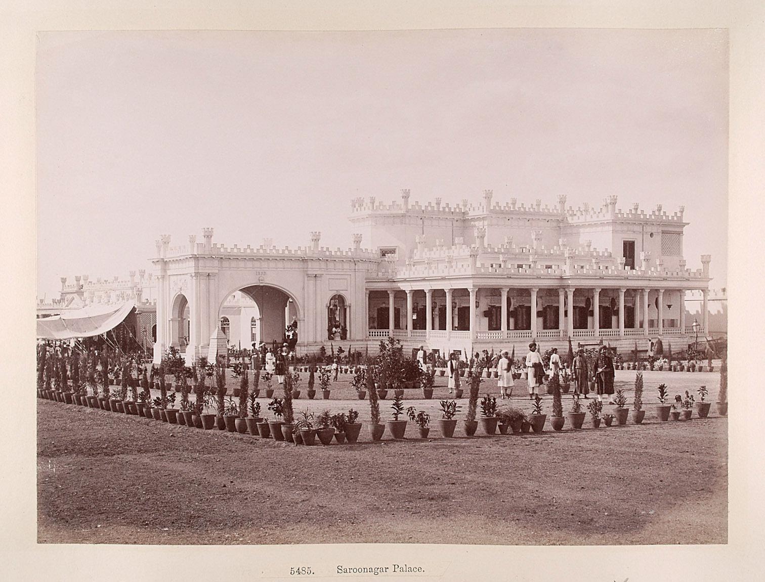 Hyderabad: Saroonagar Palast von Lala Deen Dayal