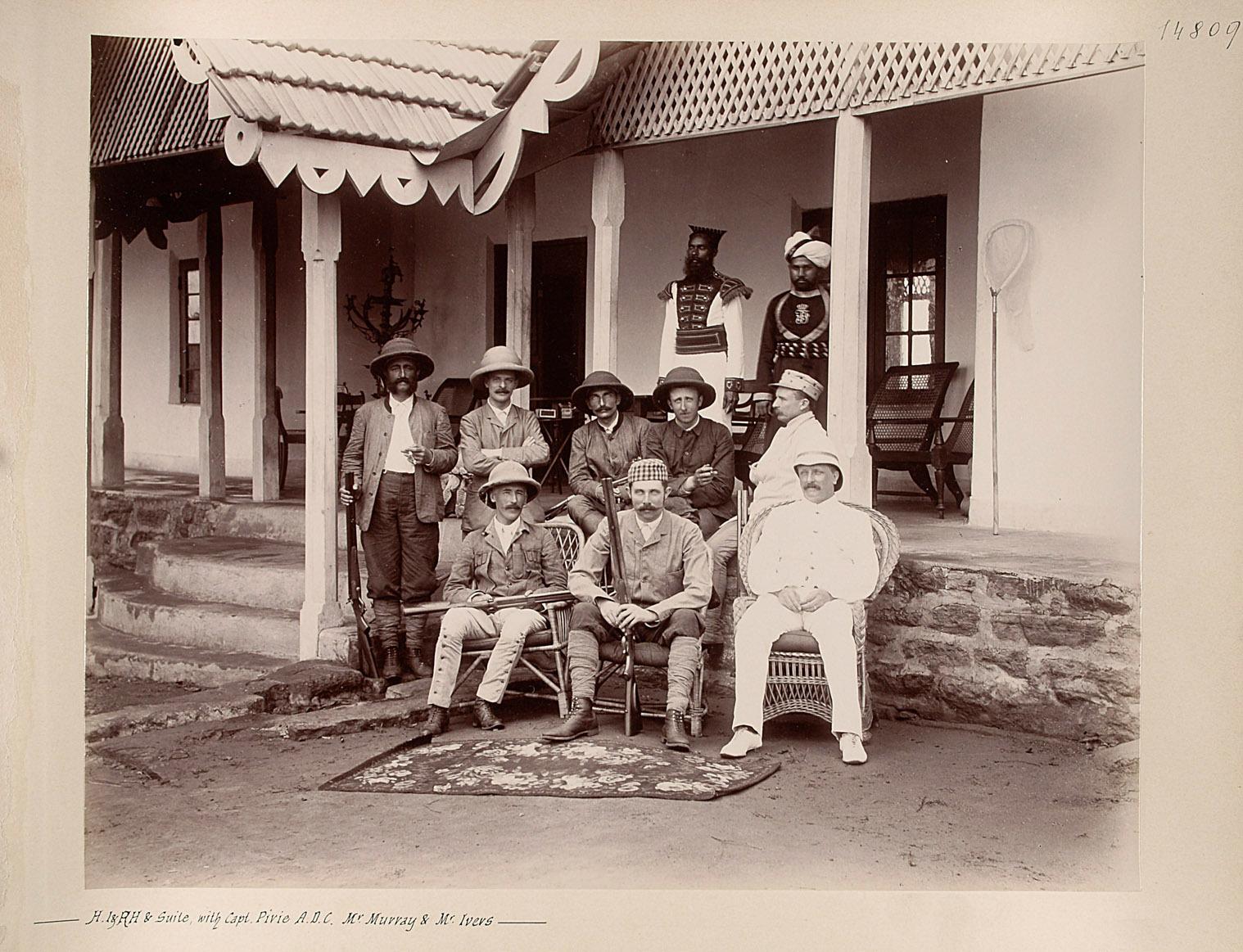 S. k.u.k. Hoheit Franz Ferdinand mit Gefolge ( Capt. Pirie, A.D.C. Murray, Mr. Ivers) von Charles Kerr