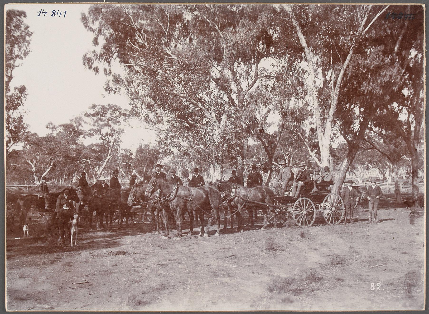 """Australien, Naramine, """"Jongall Janck"""". 18.V.1893 [Narromine] von Eduard Hodek jun."""