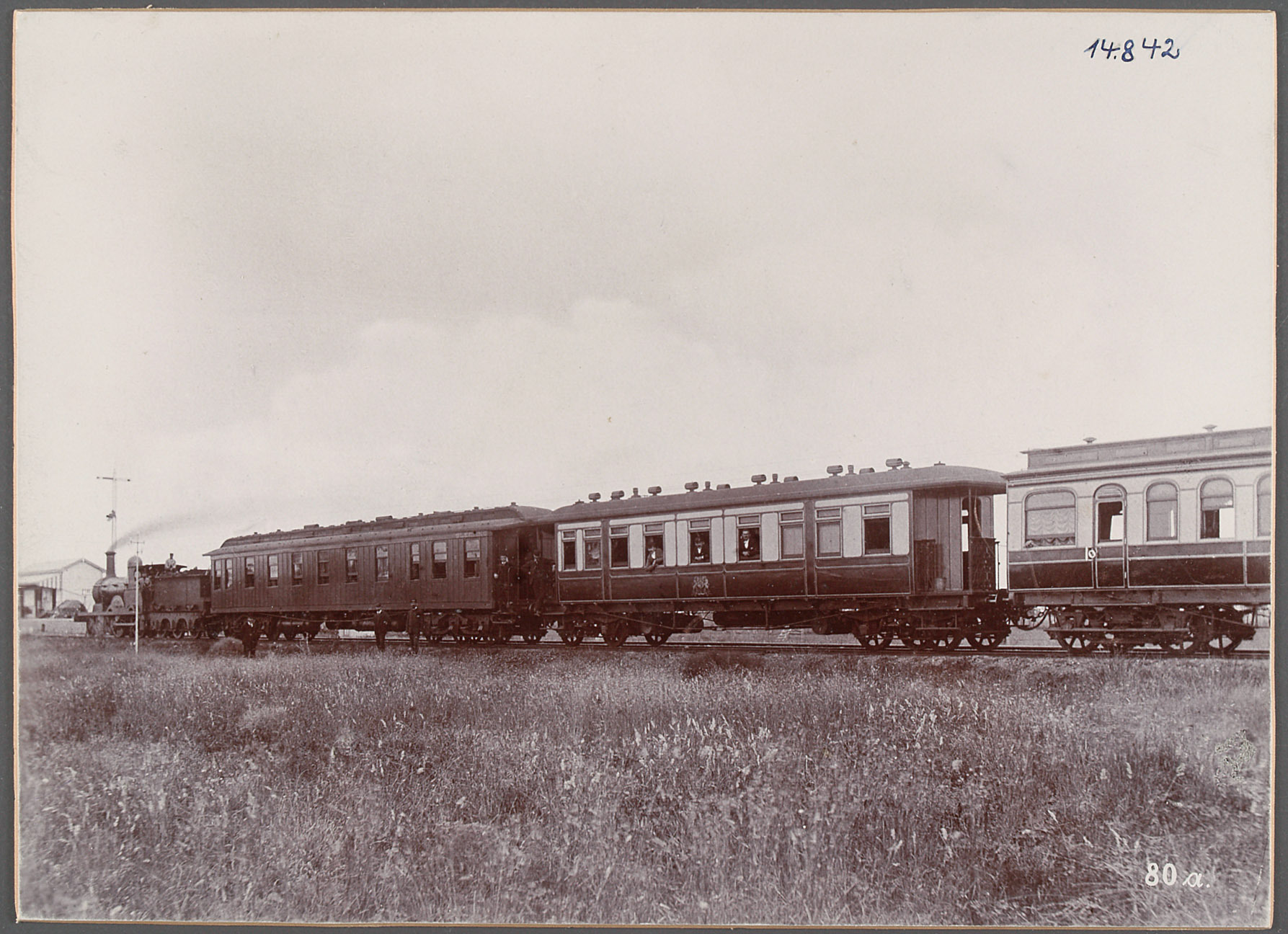 Australien, Naramine. 18.5.1893. Eisenbahnzug [Narromine] von Eduard Hodek jun.