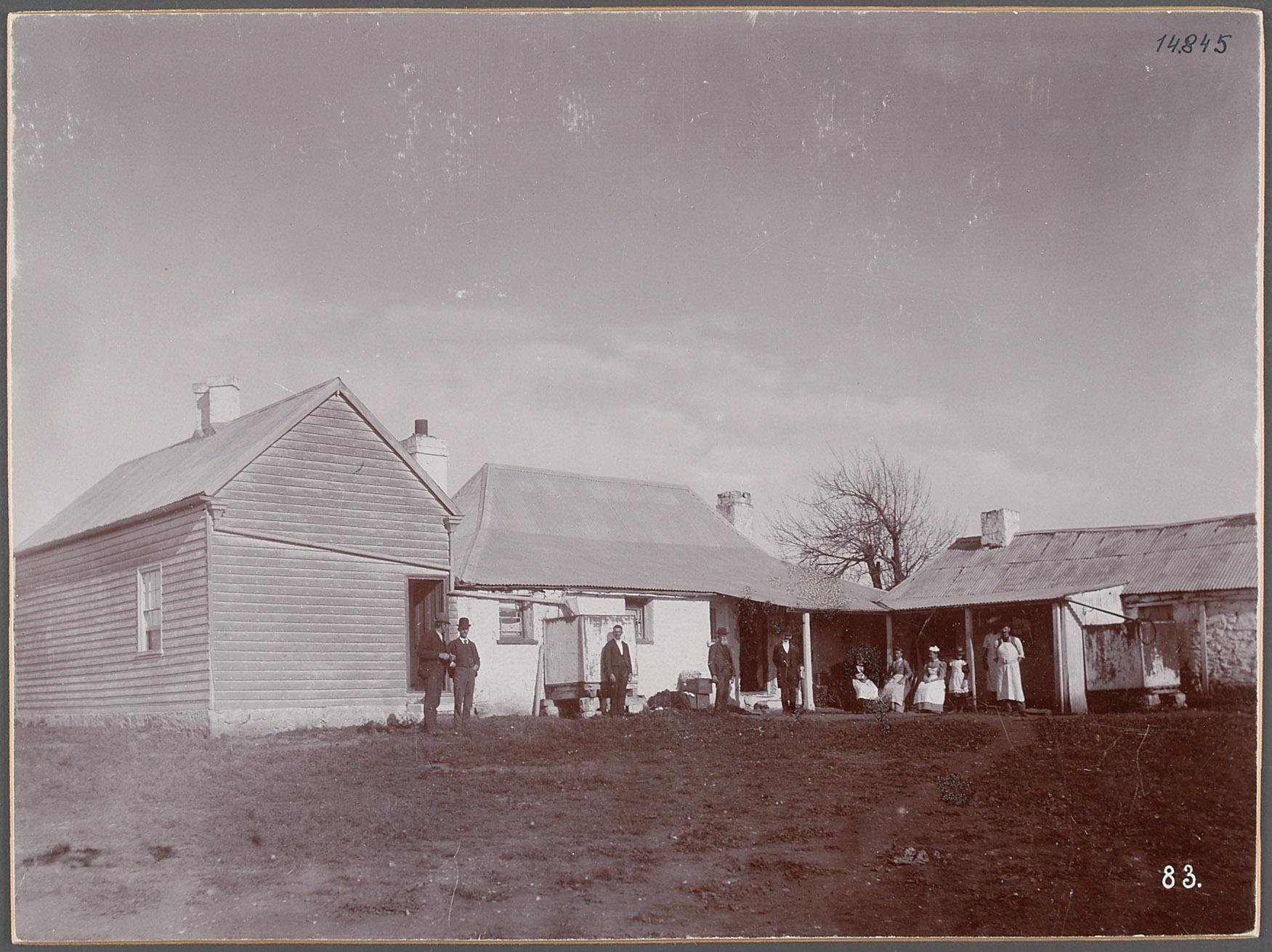 Australien, Arthurs Leigh Badgery Station. 24.V.1893. 24.5.1893,  Farmhaus von Eduard Hodek jun.