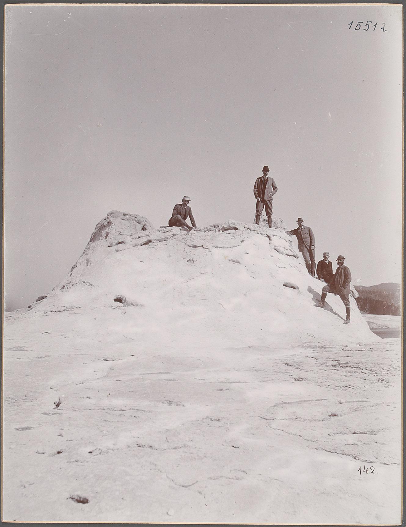"""Yellowstone Park, """"Am Castell Geyser"""". 23.IX.1893 [Castle Geysir] von Eduard Hodek jun."""