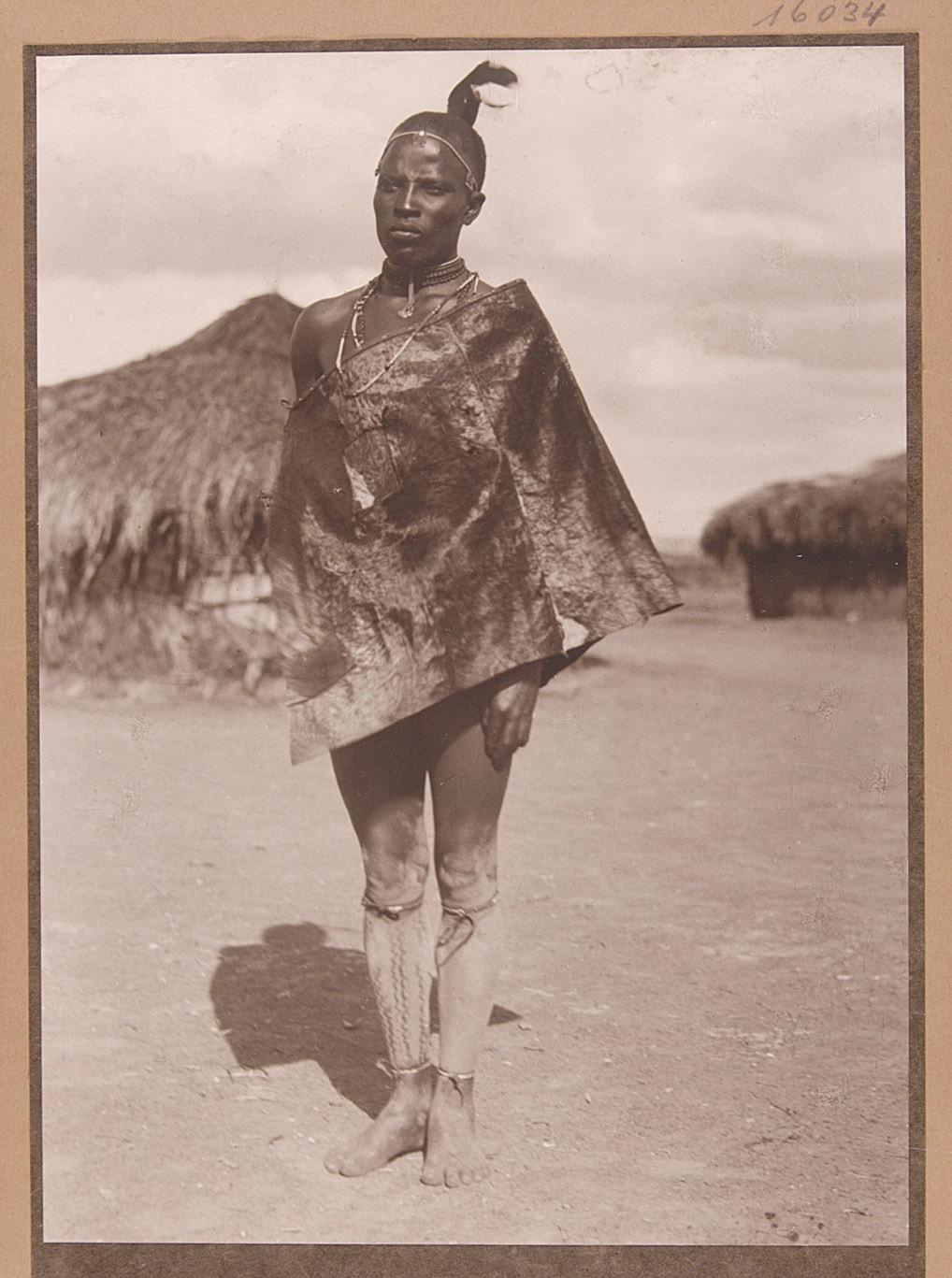 Kikuju-Eingeborener von Rudolf Kmunke