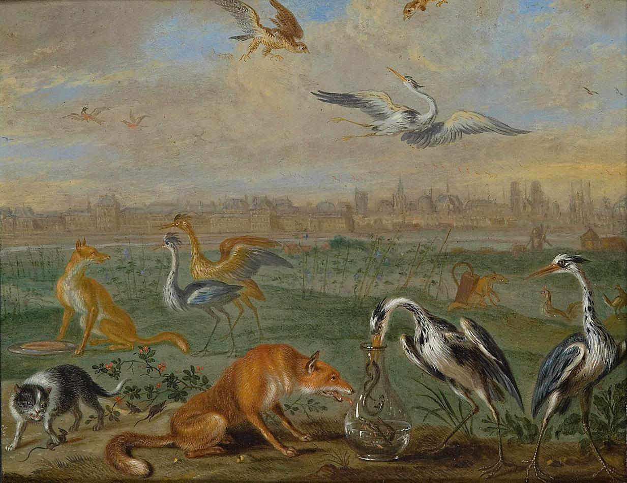 Ansichten aus den vier Weltteilen mit Szenen von Tieren: Paris von Ferdinand van Kessel