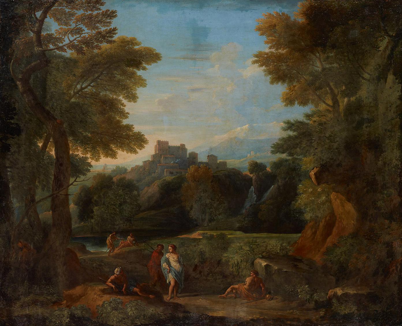 Italienische Landschaft von Jan Frans van Bloemen, gen. Orizzonte