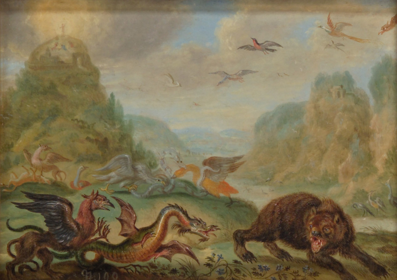 Ansichten aus den vier Weltteilen mit Szenen von Tieren: Berg Tabor von Ferdinand van Kessel
