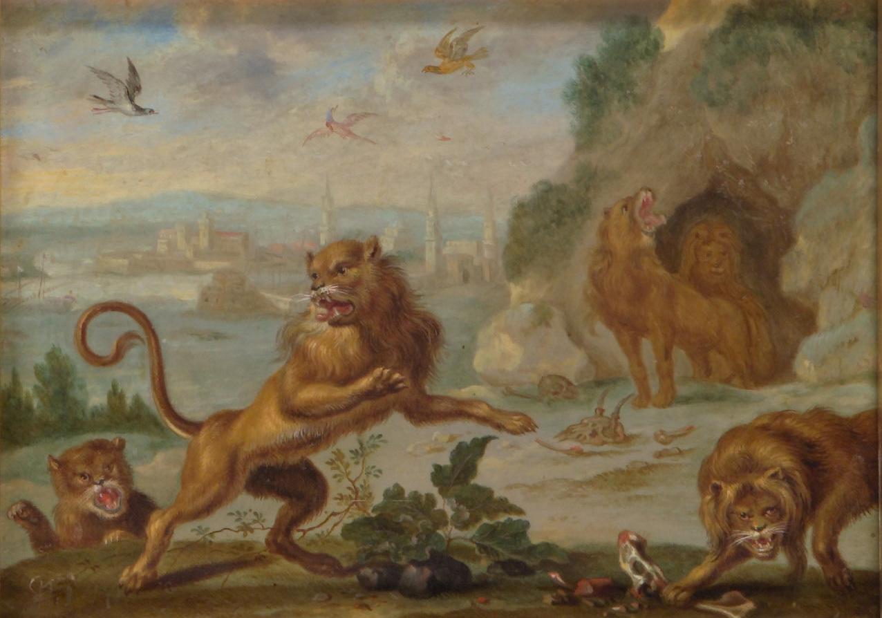 Ansichten aus den vier Weltteilen mit Szenen von Tieren: Tripolis von Ferdinand van Kessel