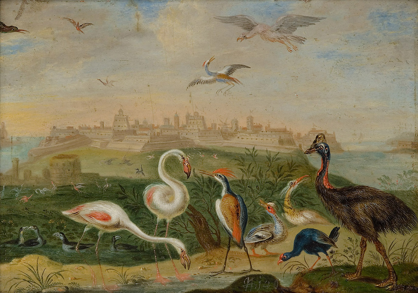 Ansichten aus den vier Weltteilen mit Szenen von Tieren: Malta von Ferdinand van Kessel