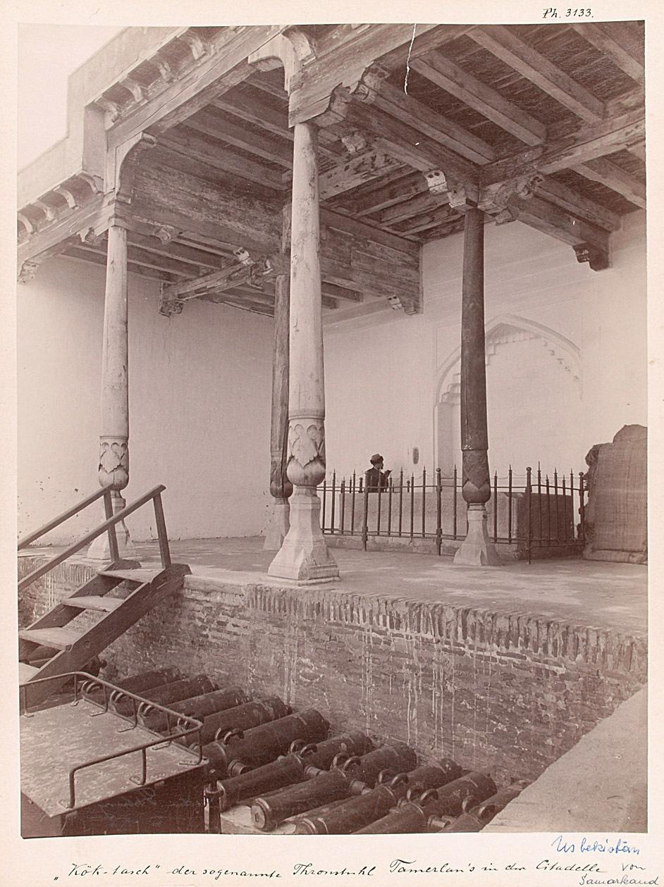 Köktasch, der sogen. Thronstuhl Tamerlans in der Citadelle von anonym