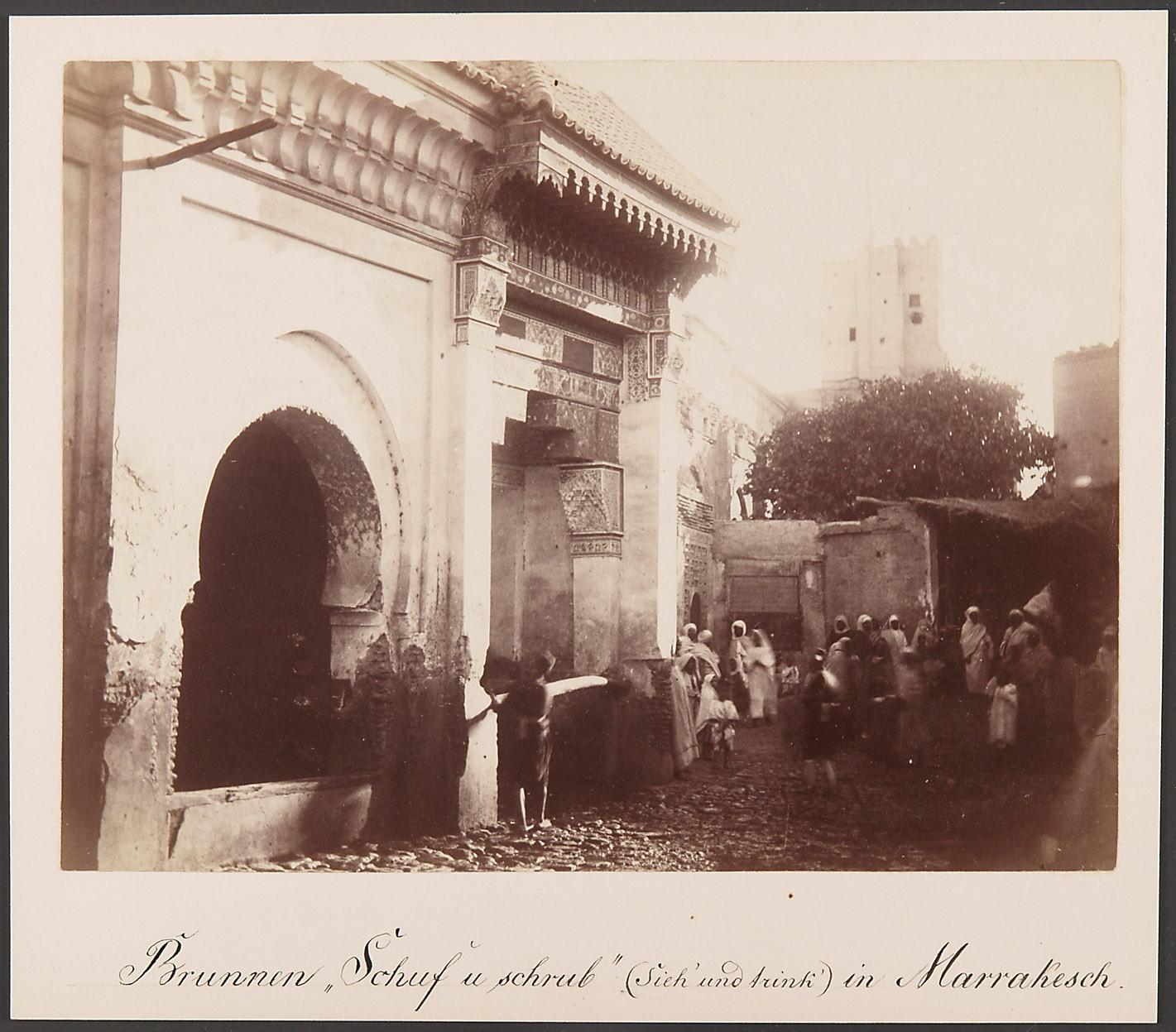 Brunnen im Zentrum der Medina von Marrakesch