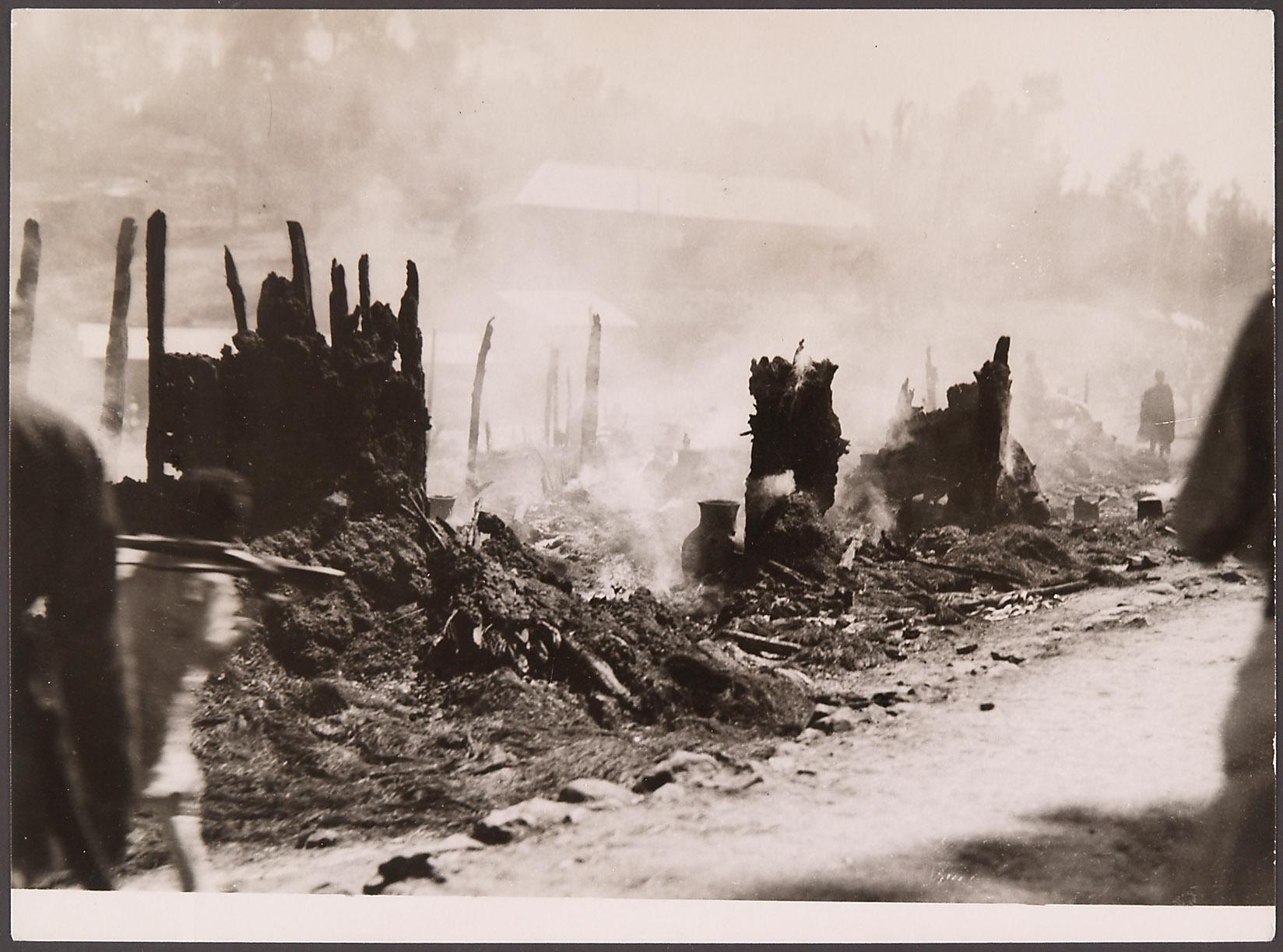 Die verheerende Zerstörung der Hauptstadt der Wallo-Provinz, Dessie, im Norden Äthiopiens von London, Associated Press Foto