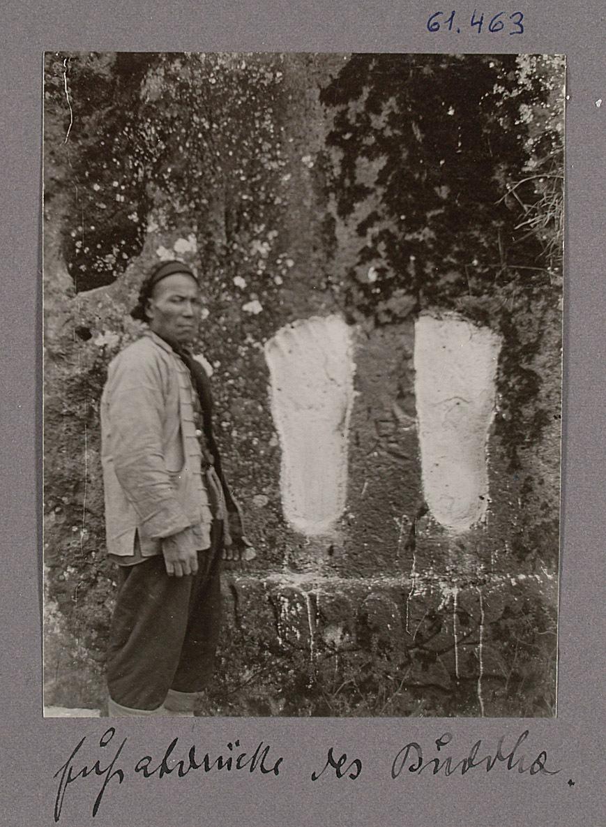 Hangtschau. Fussabdrücke des Buddha von Otto Uhlir