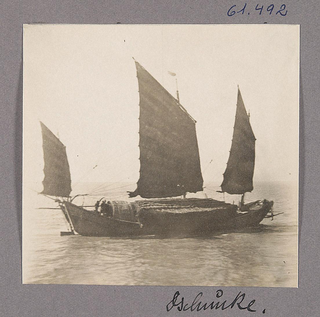 Der Yangtse. Dschunke von Otto Uhlir