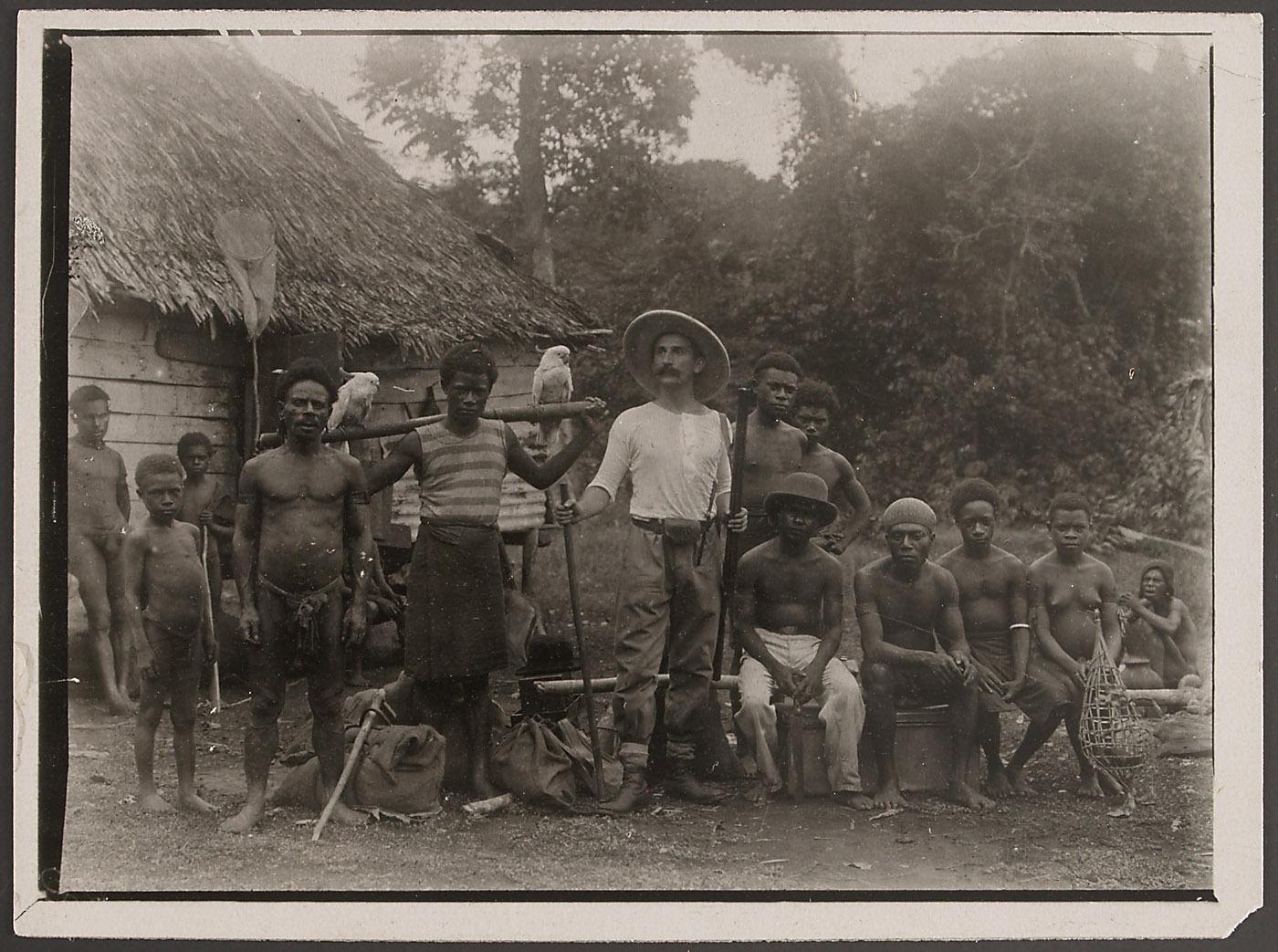 Rudolf Pöch bei den Kai-Papua
