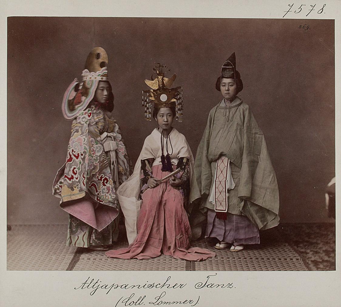 Altjapanischer Tanz von Japanisches Fotostudio