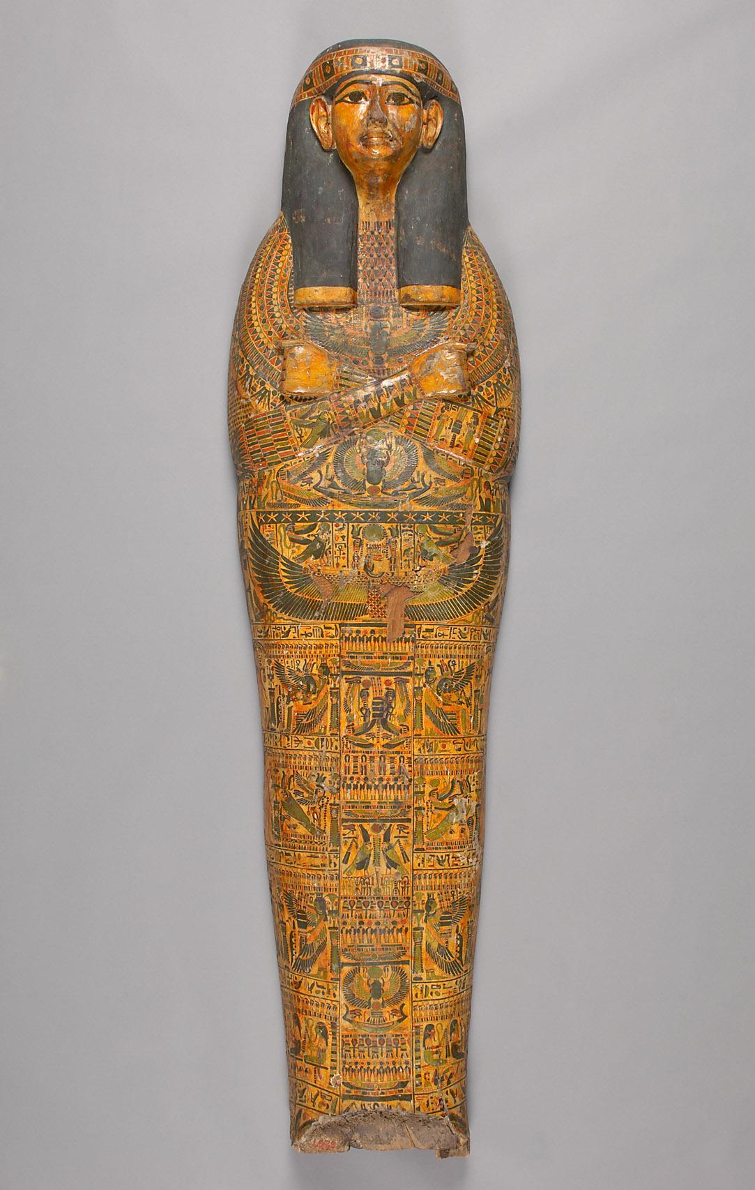 Deckel des mumienförmigen Innensarges des Anch-ef-en-mut