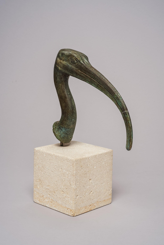 Kopf einer Ibis-Statuette