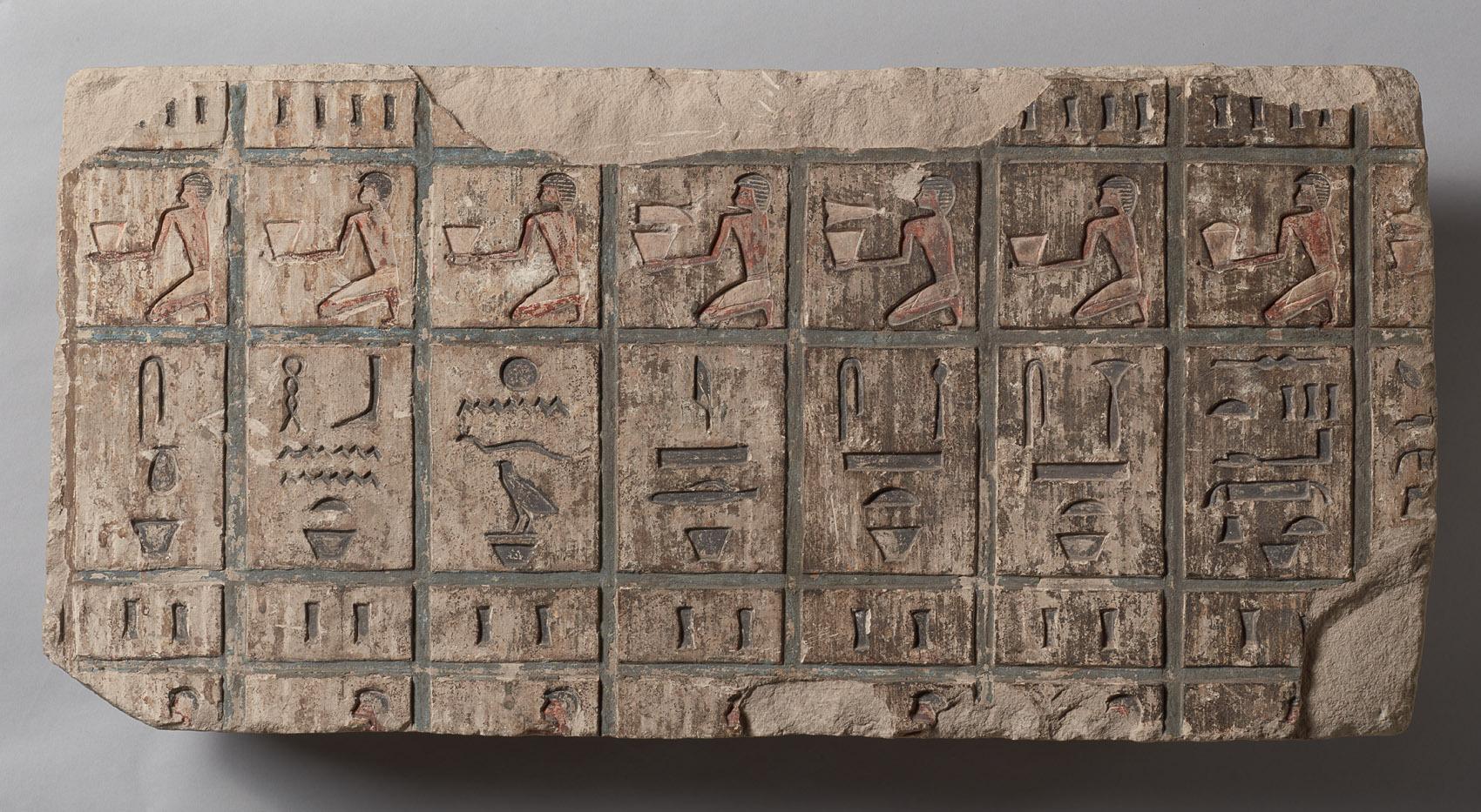 Opferliste aus dem Grab des Bak-en-renef