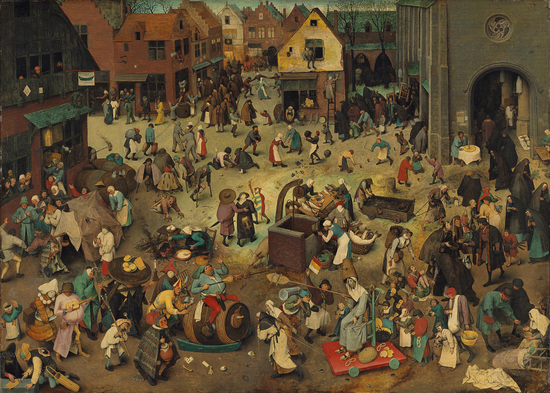 Kampf zwischen Fasching und Fasten von Pieter Bruegel d. Ä.