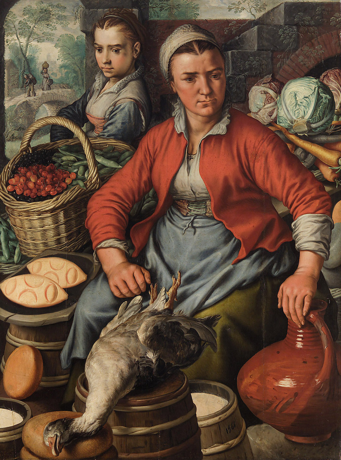 Marktfrau von Joachim Beuckelaer