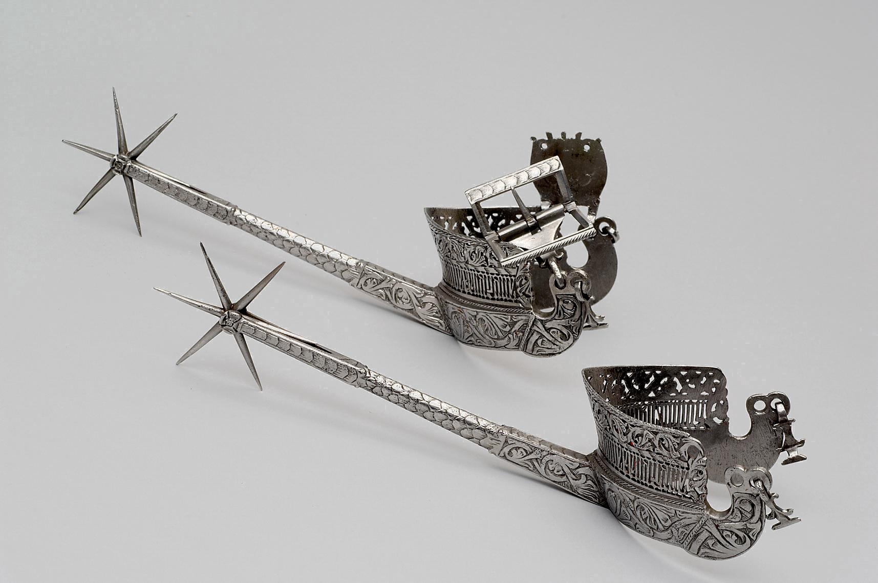 Ein Paar Sporen von König Kasimir II. Sohn von Wladyslaw II. von Polen