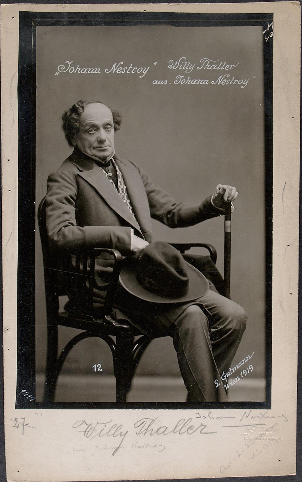 Willi Thaller von Ludwig Gutmann, Wien