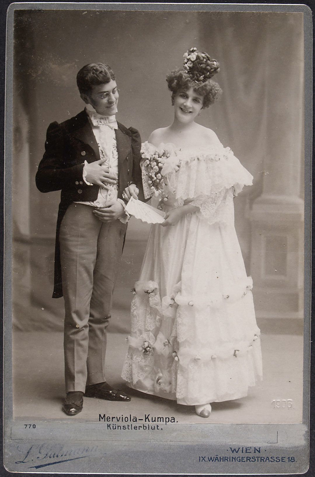 Helene Merviola, Herr Kumpa von Ludwig Gutmann, Wien