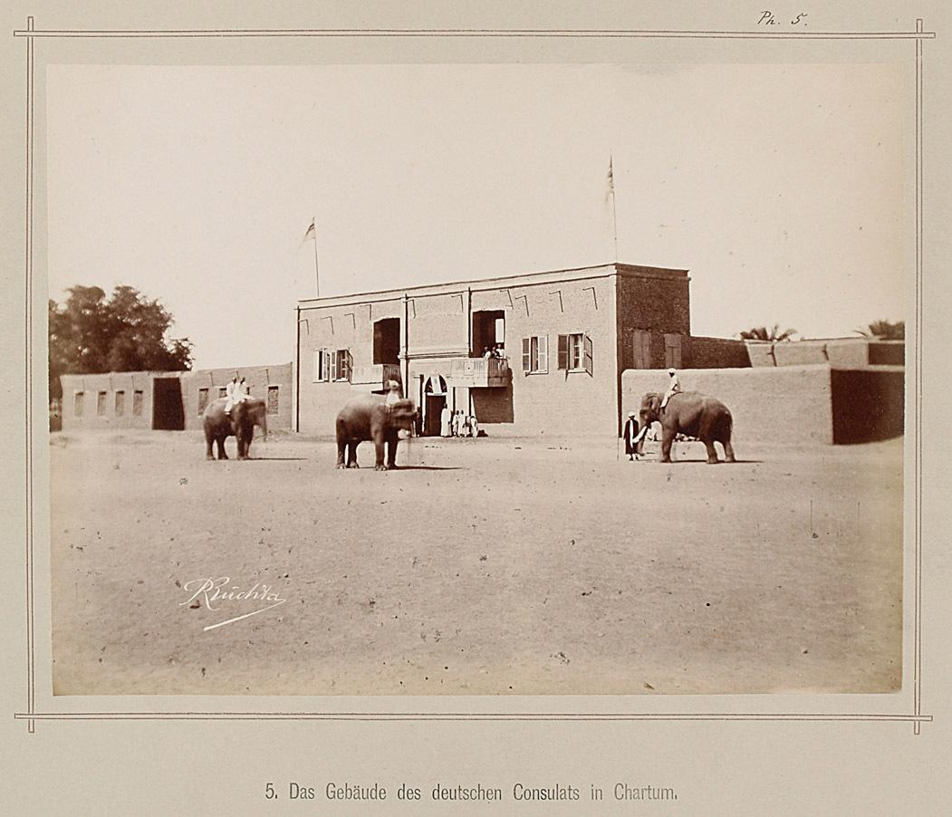 5. Das Gebäude des deutschen Consulats in Chartum von Richard Buchta